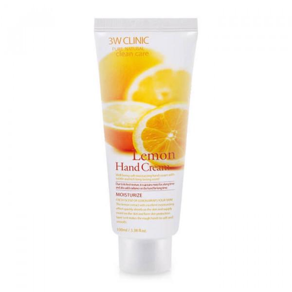 3W Clinic Увлажняющий крем для рук с осветляющим экстрактом лимона (100 мл)
