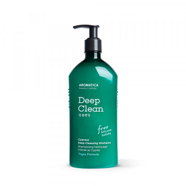 AROMATICA Бессульфатный шампунь для глубокого очищения с кипарисом (400 мл)