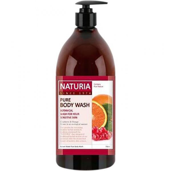 NATURIA Увлажняющий гель для душа с фруктовым ароматом апельсина, клюквы и зеленого яблока (750 мл)