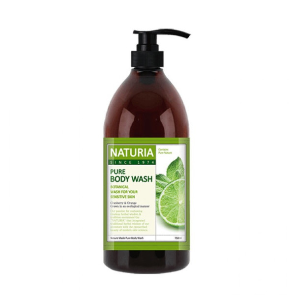 NATURIA Увлажняющий гель для душа с освежающим ароматом мяты, эвкалипта и лайма (750 мл)