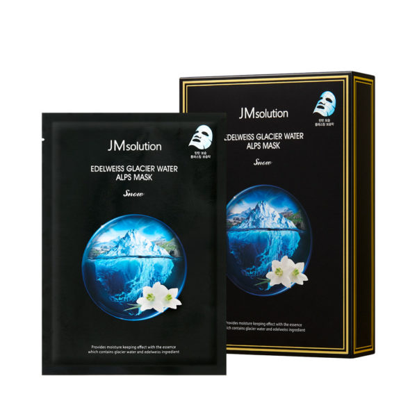 JMsolution Тканевая маска с экстрактом эдельвейса и ледниковой воды Альп