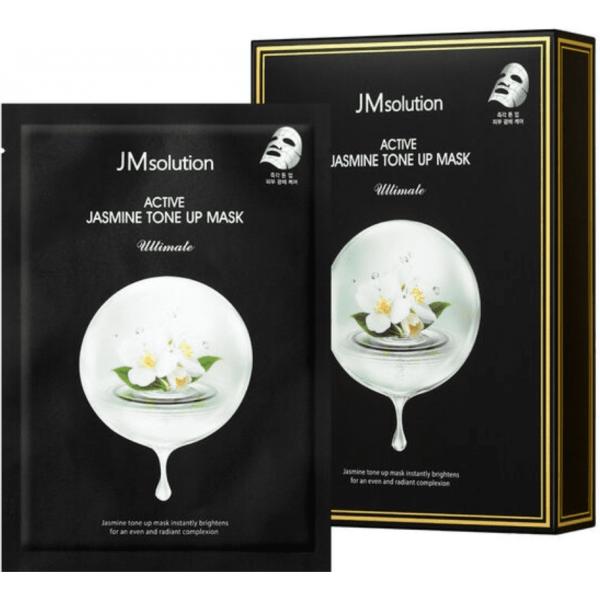 JMsolution Выравнивающая тон тканевая маска с экстрактом жасмина