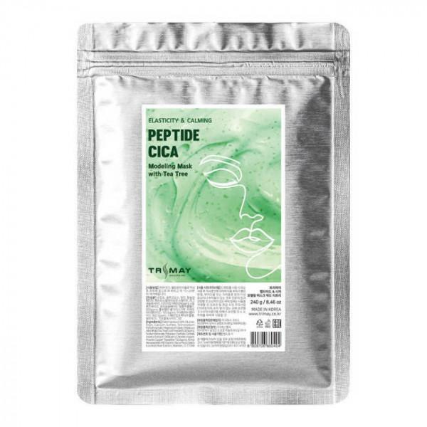 TRIMAY Альгинатная маска с пептидами, центеллой и частицами листьев чайного дерева (240 гр)
