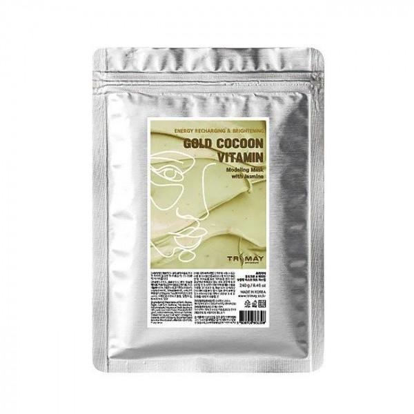Trimay Альгинатная маска с коконом золотого шелкопряда, витаминами и частицами жасмина (240 гр)