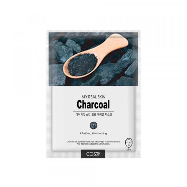 COS.W Тканевая маска для лица с древесным углем