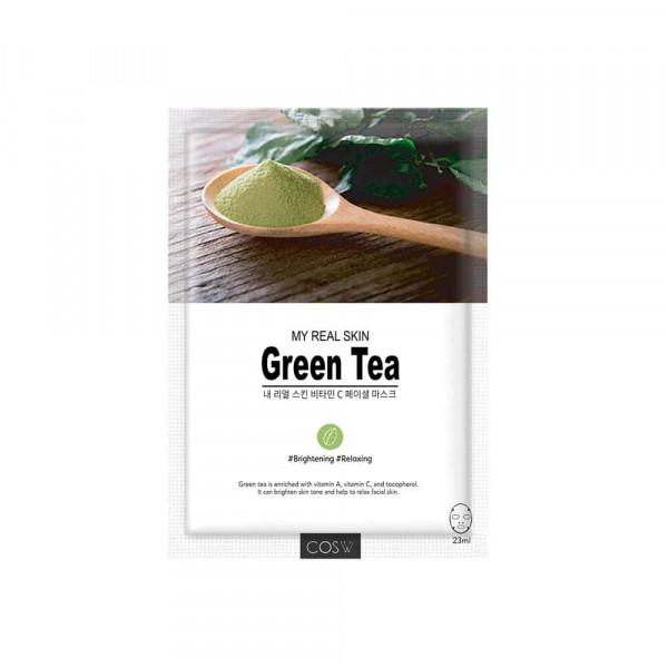 COS.W Тканевая маска для лица с зеленым чаем