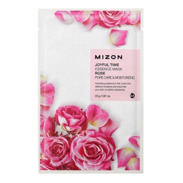 MIZON Маска для лица тканевая c розой