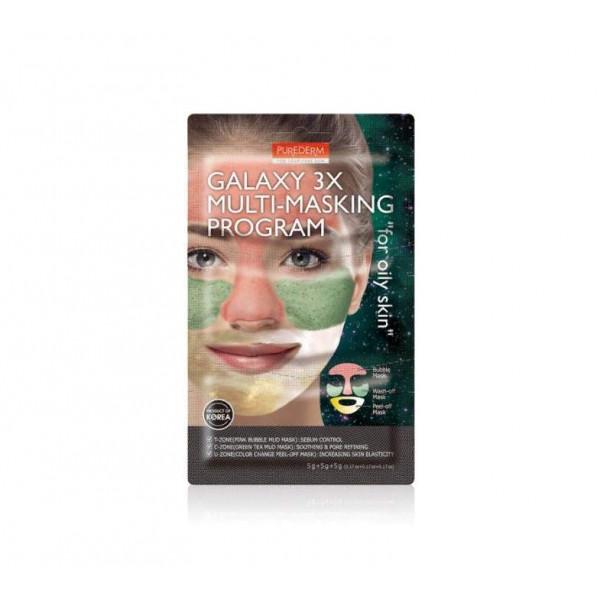 PUREDERM Мультимаска для комбинированной кожи Pink & Green