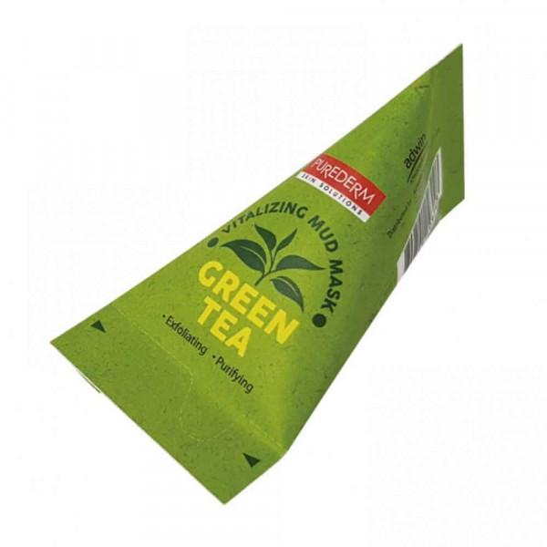 Purederm Освежающая глиняная маска с зеленым чаем