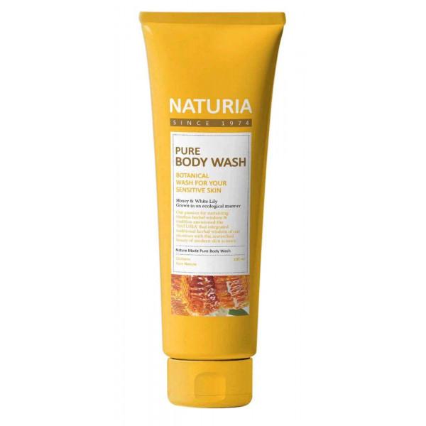 NATURIA Увлажняющий гель для душа с романтическим ароматом лилии, нектарина и меда (100 мл)