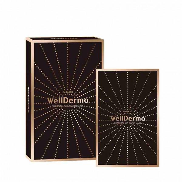 WellDerma Очищающая тканевая маска с древесным углём и германием