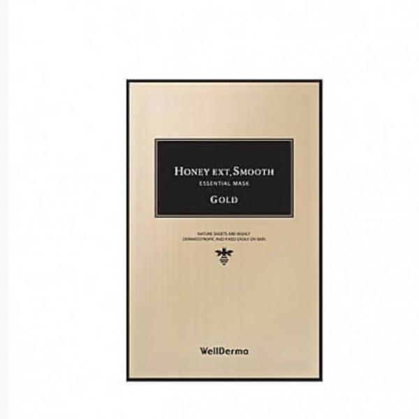 WellDerma Питательная тканевая маска с золотом и мёдом