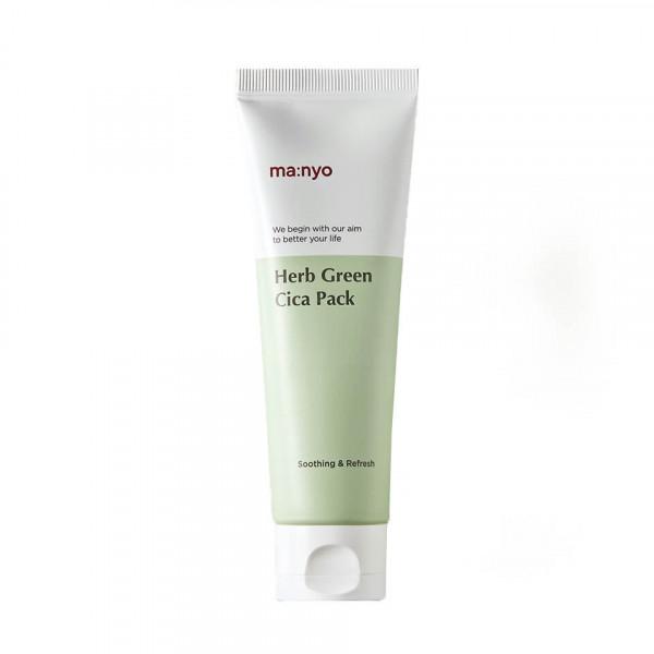 Manyo Успокаивающая маска для лица с экстрактом зеленого чая Herb Green Cica Pack (75 мл)
