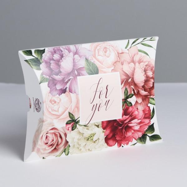 Коробка складная фигурная «Цветочная нежность», 19 × 14 × 4 см