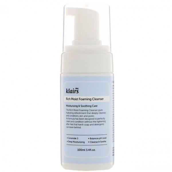 Dear, Klairs Увлажняющая кислородная пенка для умывания Rich Moist Foaming Cleanser (100 мл)